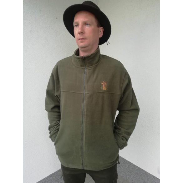 Fleece Jacke mit Stickerei