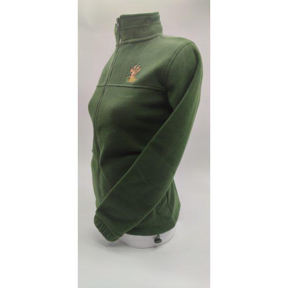Fleece mikina dámský (lahvově zelená)
