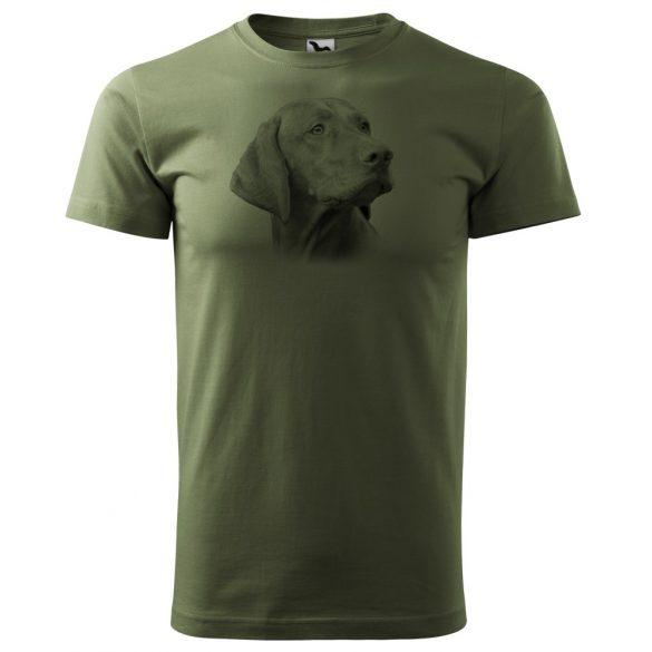T-Shirt mit schwarzem ung. Vorstehhundkopf