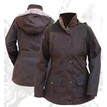 Dámska vosková bunda s kapucňou