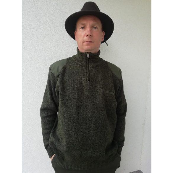 Melír szivarzsebes pulóver