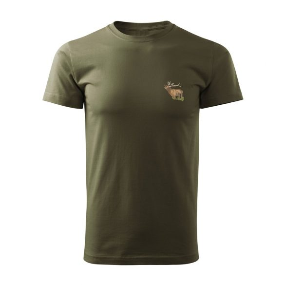 T-shirt mit Hirschstickerei