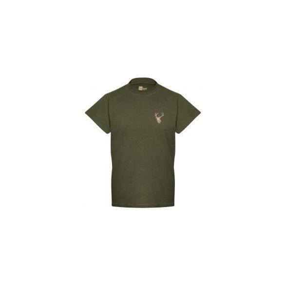 Venator T-shirt mit Hirschstickerei